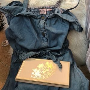 Juicy Couture denim dress with buttons